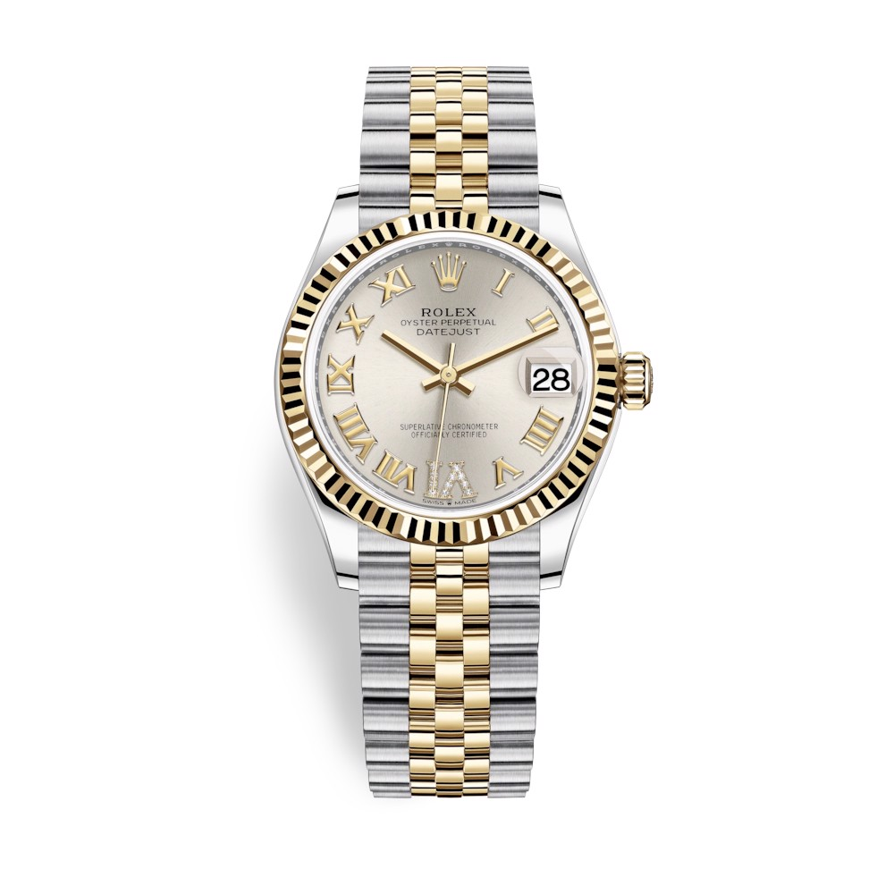 Rolex Datejust 31mm Stainless Steel and Yellow Gold Silver Dial 278273-0004