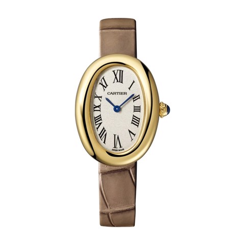 Cartier Baignoire 1920 Small Pink Gold Leather