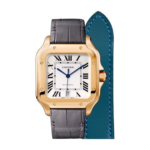 Cartier Santos De Cartier Large Pink Gold 2 Leather