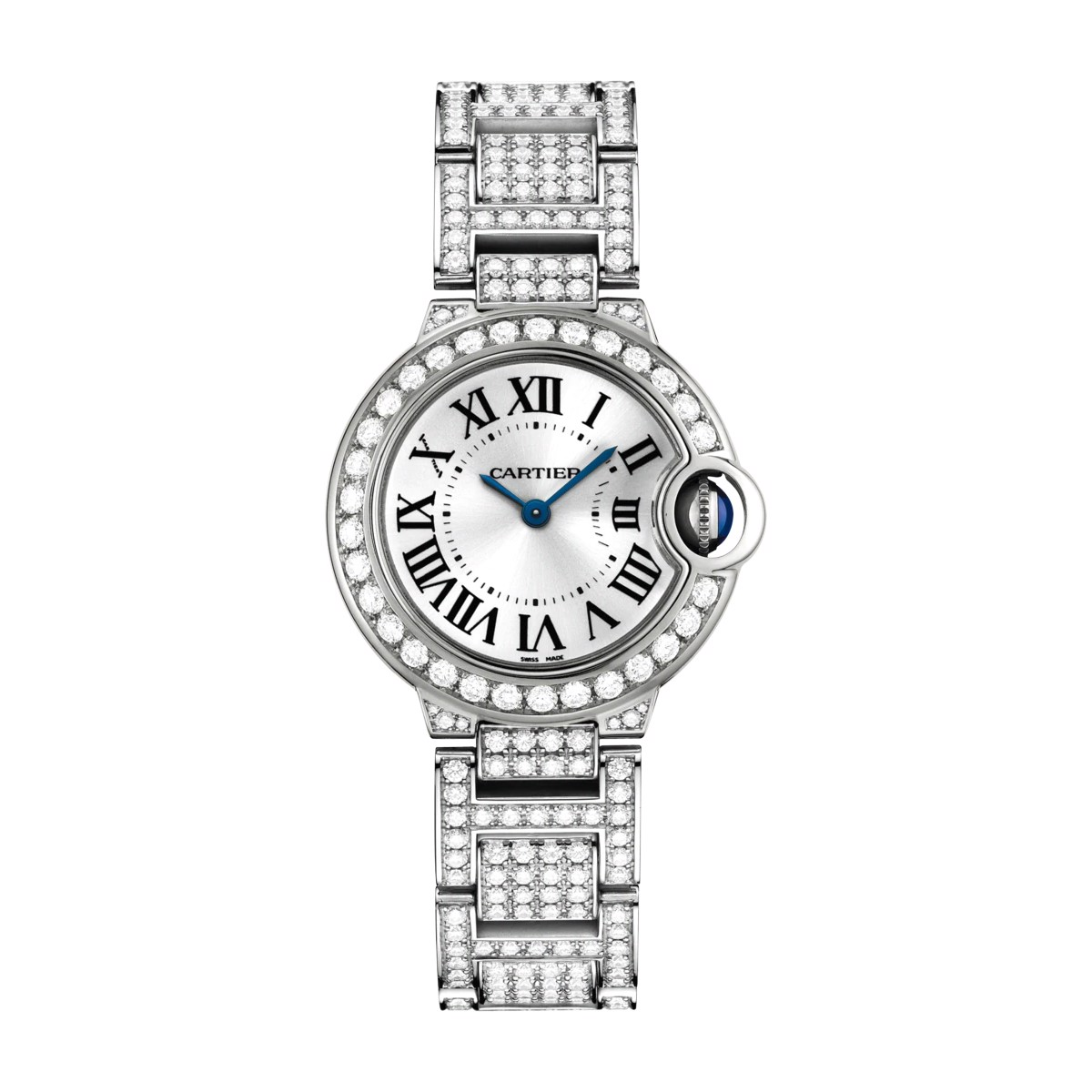 Cartier Ballon Bleu de Cartier 28mm White Gold Diamonds
