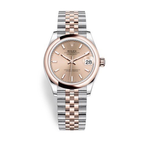 Rolex Datejust 31mm Stainless Steel and Everose Gold Pink Dial 278241-0010