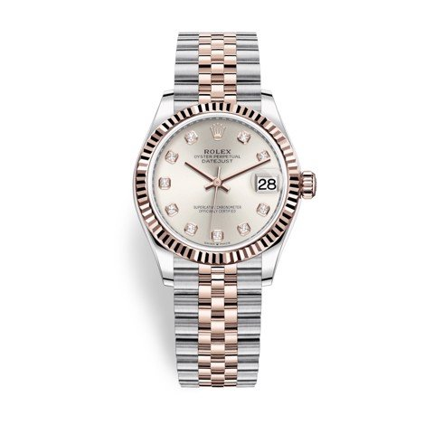 Rolex Datejust 31mm Stainless Steel and Everose Gold Silver Dial 278271-0016