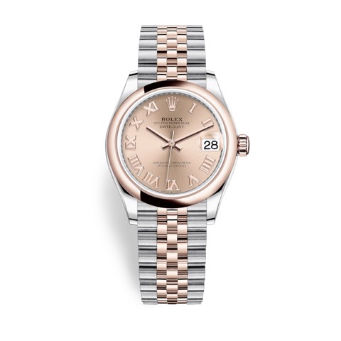 Rolex Datejust 31mm Stainless Steel and Everose Gold Pink Dial 278241-0006