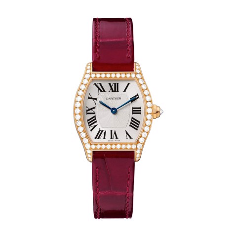 Cartier Tortue Small Pink Gold Diamonds Leather