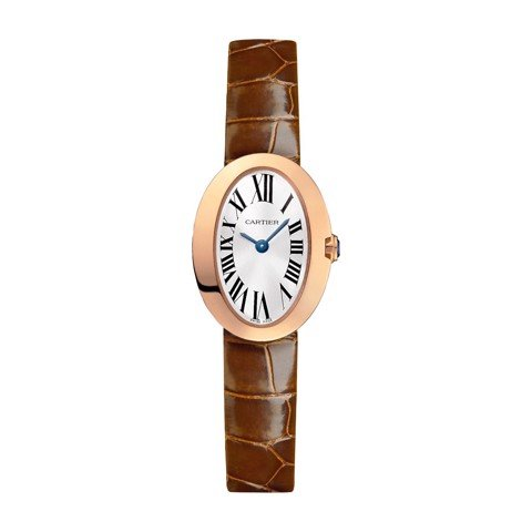 Cartier Baignoire Mini Pink Gold Leather