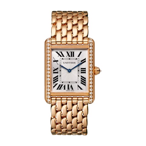 Cartier Tank Louis Cartier Large Model Pink Gold Diamonds