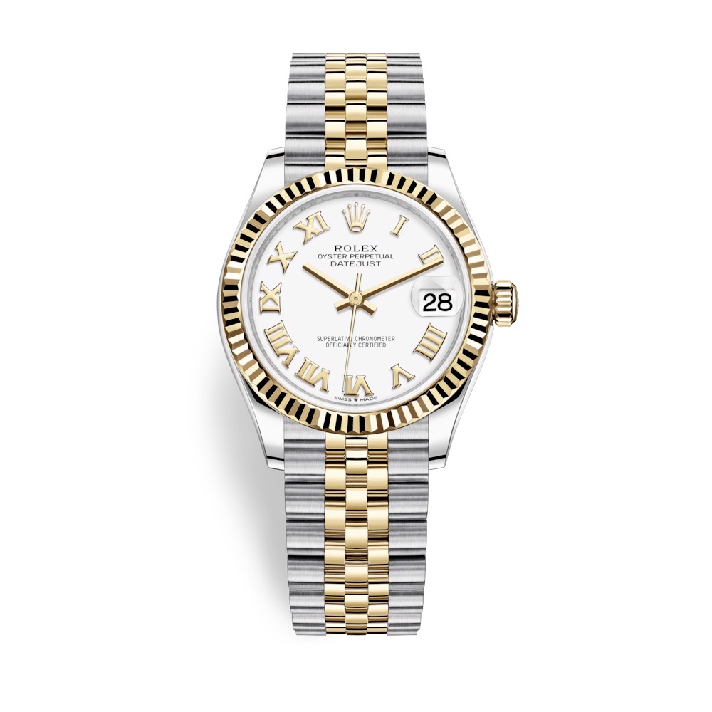 Rolex Datejust 31mm Stainless Steel and Yellow Gold White Dial 278273-0002