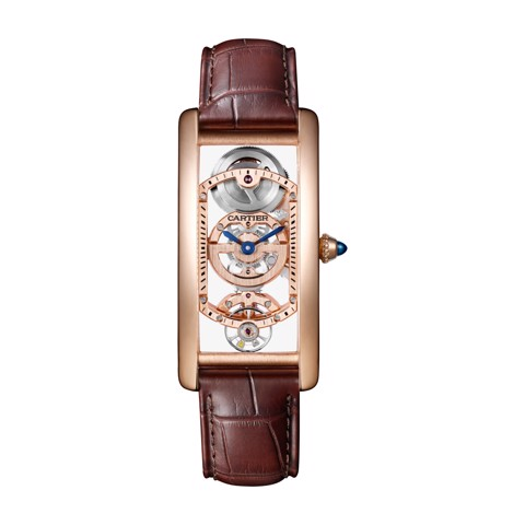 Cartier Tank Cintrée Medium Model Manual Pink Gold