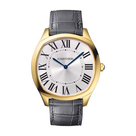 Cartier Drive De Cartier Extra Flat Yellow Gold Leather