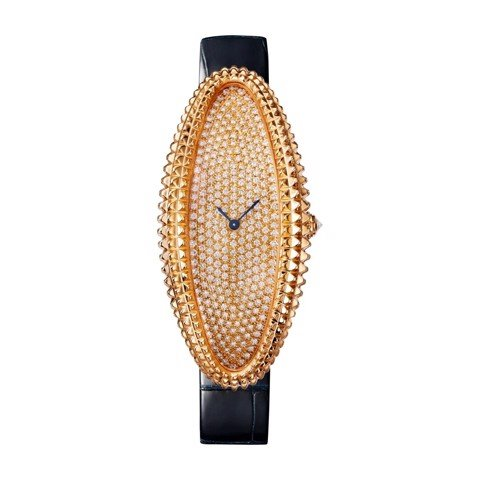 Cartier Baignoire Allongée XL Pink Gold Diamonds Leather