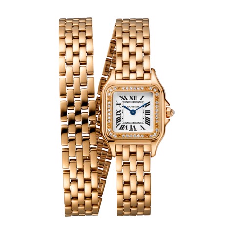 Cartier Panthère de Cartier Small Model Double Loop Pink Gold Diamonds