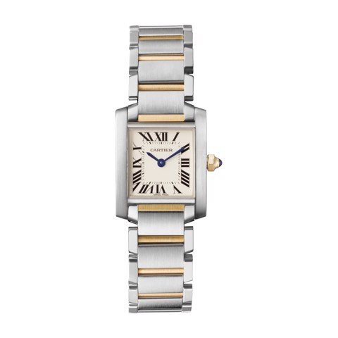 Cartier Tank Francaise Small Model Yellow Gold Steel
