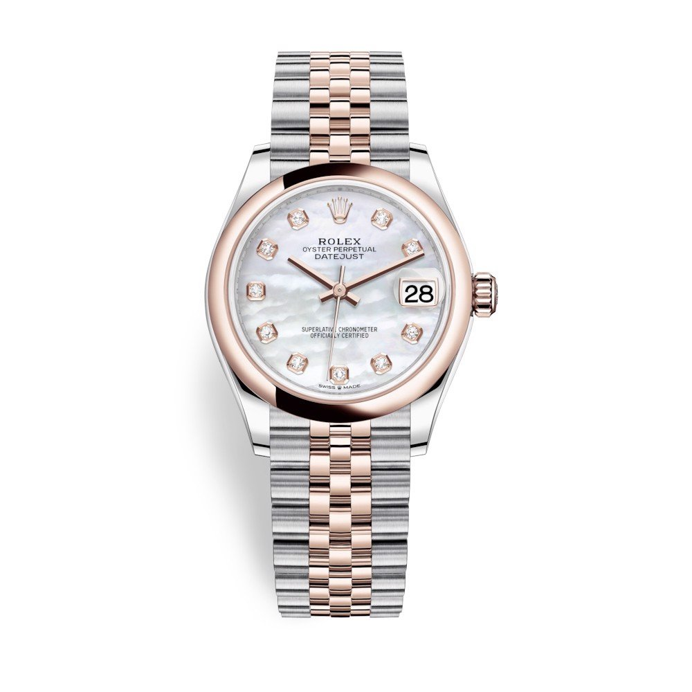 Rolex Datejust 31mm Stainless Steel and Everose Gold MOP Dial 278241-0026