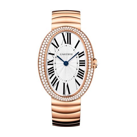 Cartier Baignoire Allongée Large Pink Gold Diamonds