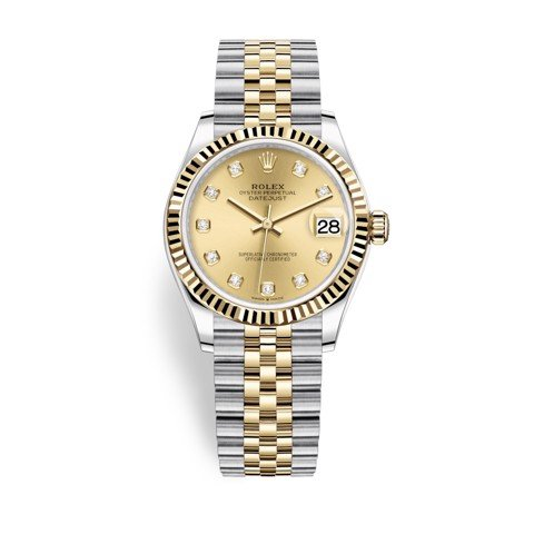 Rolex Datejust 31mm Stainless Steel and Yellow Gold Champagne Dial 278273-0026