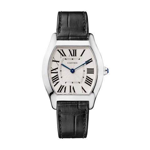 Cartier Tortue Medium White Gold Leather