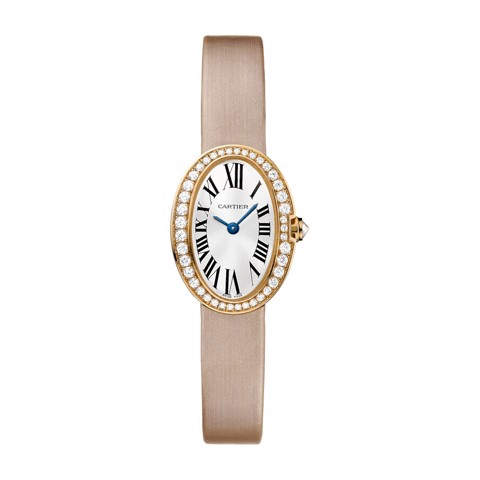 Cartier Baignoire Mini Pink Gold Diamonds Fabric