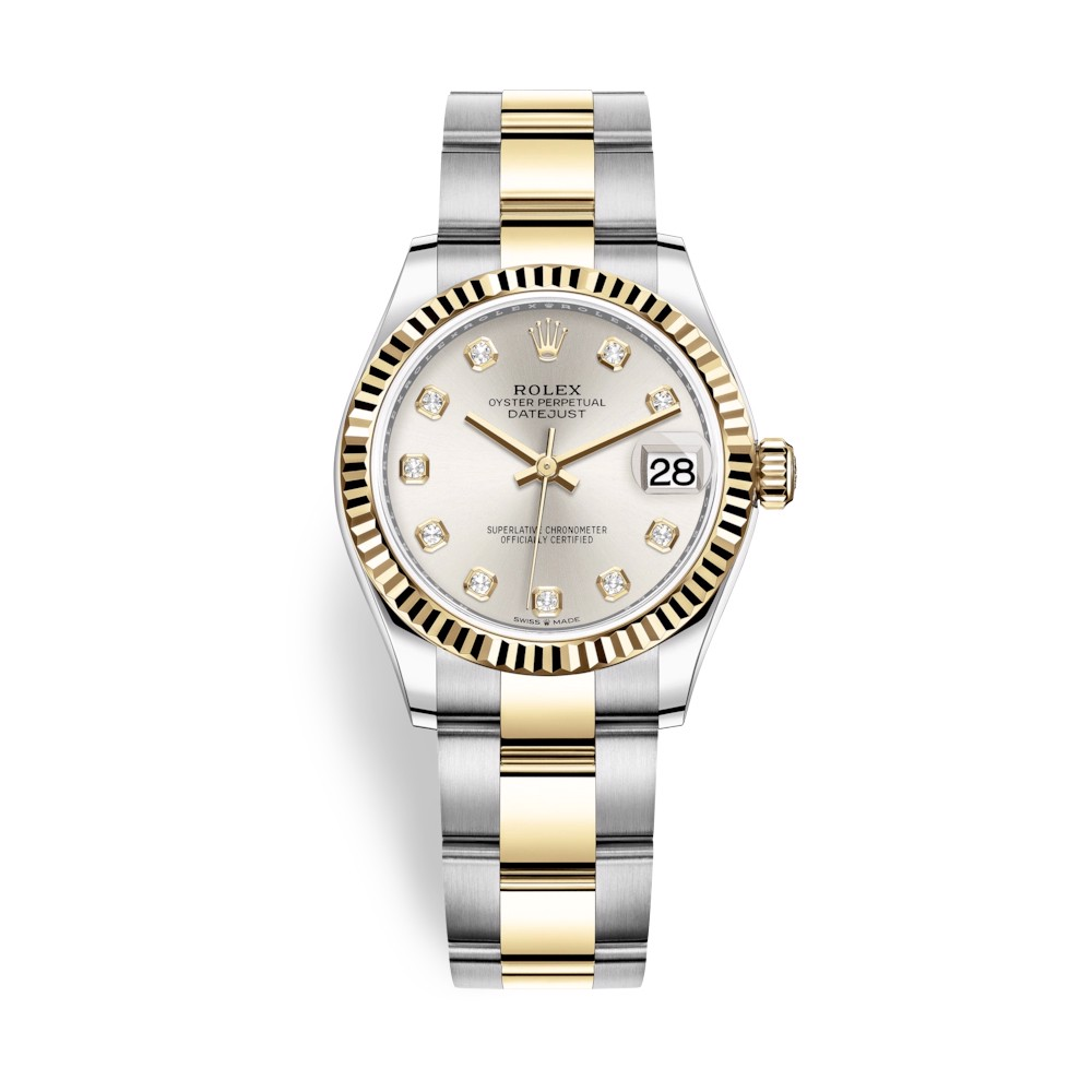 Rolex Datejust 31mm Stainless Steel and Yellow Gold Silver Dial 278273-0019