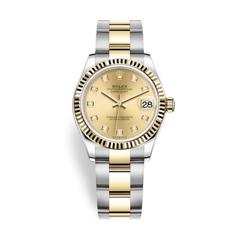 Rolex Datejust 31mm Stainless Steel and Yellow Gold Champagne Dial 278273-0025