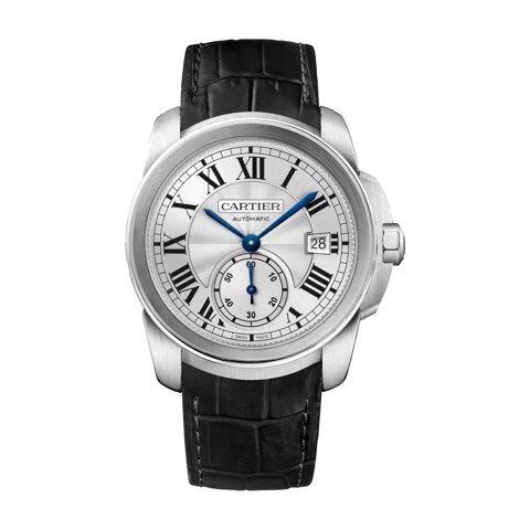 Cartier Calibre De Cartier Steel Leather