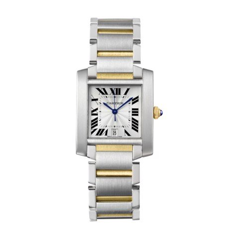 Cartier Tank Francaise Large Model Yellow Gold Steel