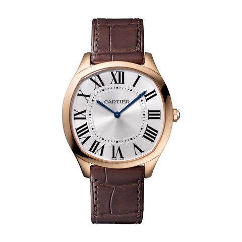 Cartier Drive De Cartier Extra Flat Pink Gold Leather