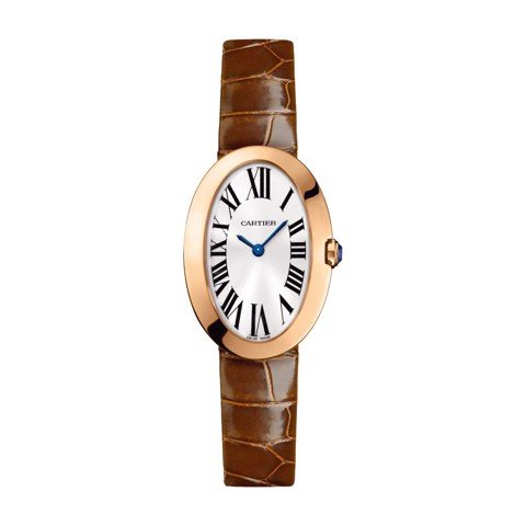 Cartier Baignoire Small Pink Gold Leather