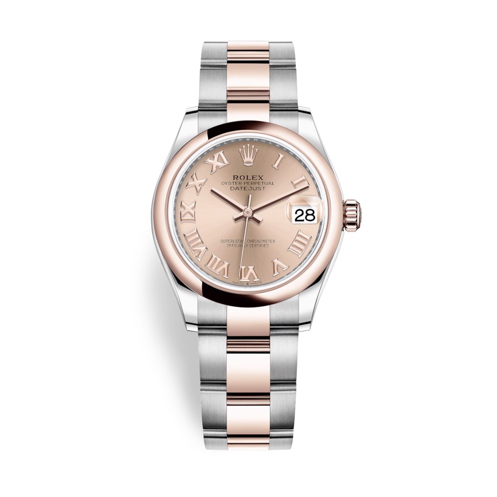 Rolex Datejust 31mm Stainless Steel Everose Gold and Gold Dial 278241-0005