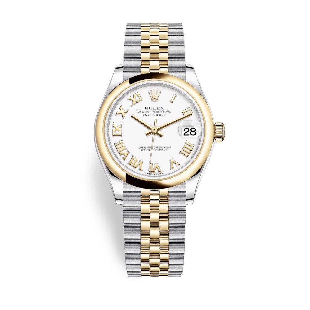 Rolex Datejust 31mm Stainless Steel and Yellow Gold White Dial 278243-0002