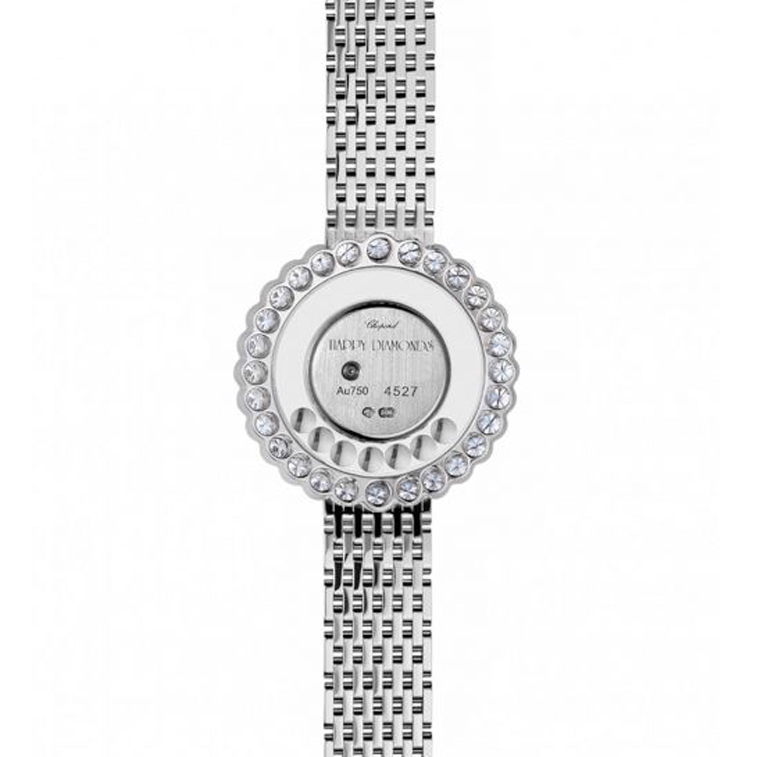 Chopard Happy Diamond Icon Full Diamond White Gold Bracelet 30mm