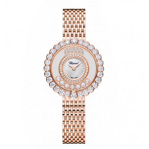 Chopard Happy Diamond Icon Full Diamond Rose Gold Bracelet 30mm