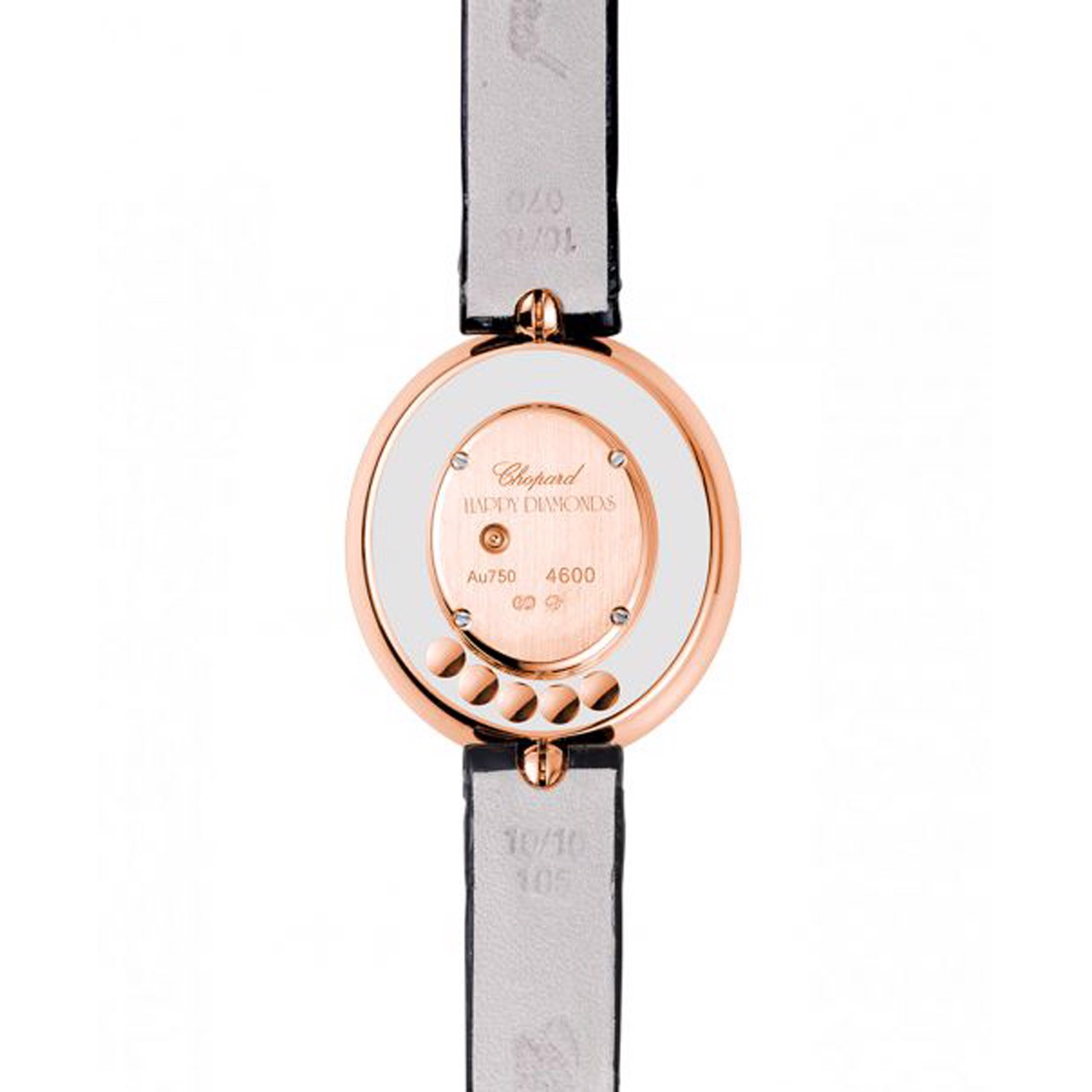 Chopard Happy Diamond Oval Rose Gold Leather Strap 29mm