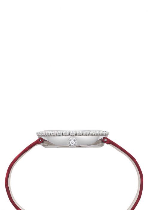 Chopard Happy Diamond Full Diamond - Rubies White Gold Red Leather Strap 36mm