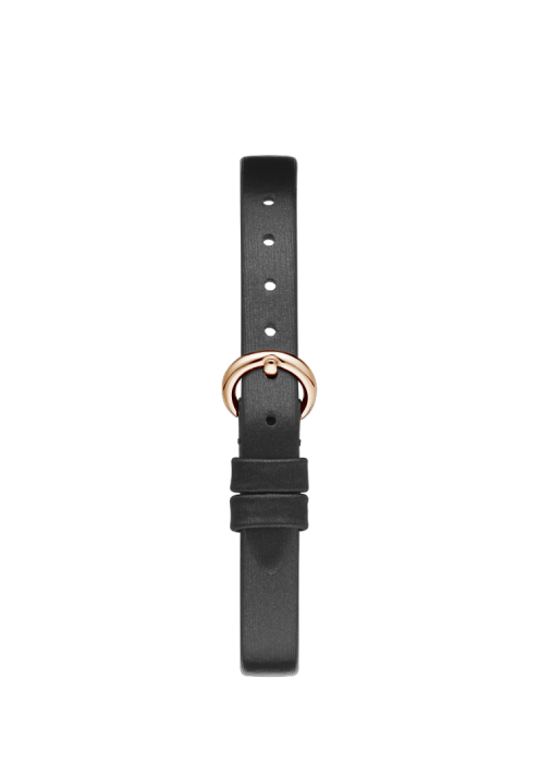 Chopard Happy Diamond Bow Tie Full Diamond Rose Gold Black Leather Strap 26mm