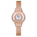 Chopard Happy Diamond Bow Tie Full Diamond Rose Gold Bracelet 26mm