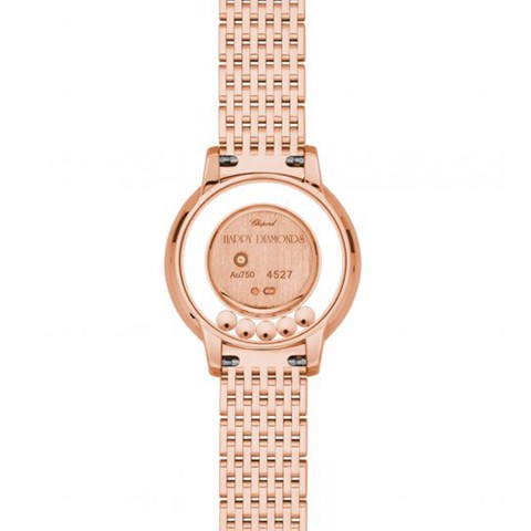 Chopard Happy Diamond Icon Full Diamond Rose Gold wide band Bracelet 26mm