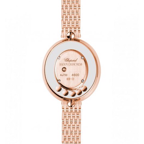 Chopard Happy Diamond Icon Oval Rose Gold Bracelet 29mm