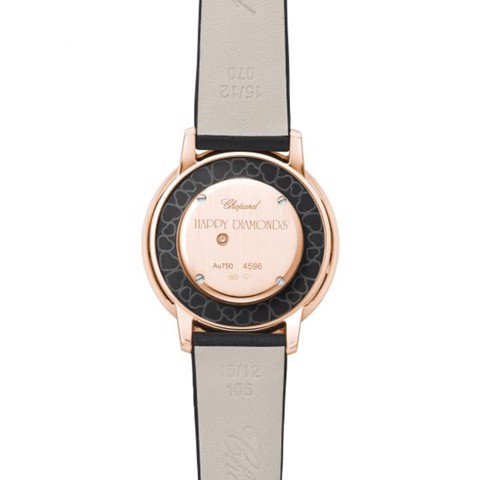 Chopard Happy Diamond Icon Rose Gold Black Fabric Strap 32mm