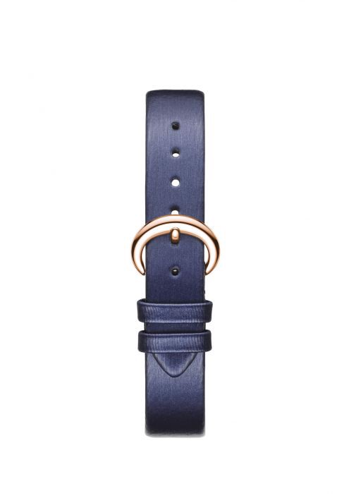 Chopard Happy Diamond Icon Rose Gold Blue Fabric Strap 32mm