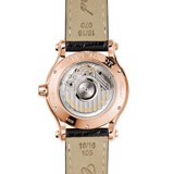Chopard Happy Sport Automatic Rose Gold Black Leather Strap 36mm