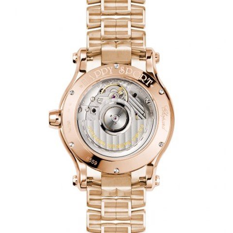 Chopard Happy Sport Automatic Diamond Rose Gold Bracelet 36mm