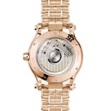Chopard Happy Sport Automatic Sapphires Rose Gold Bracelet MOP Dial 36mm