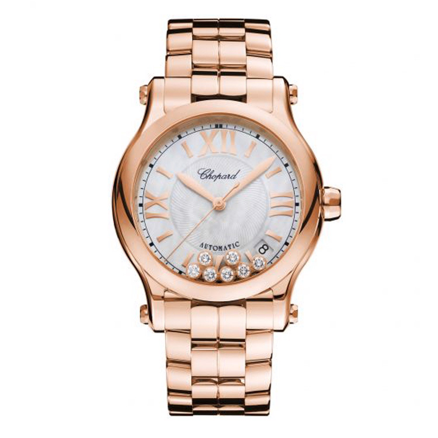Chopard Happy Sport Automatic Rose Gold Bracelet MOP Dial 36mm
