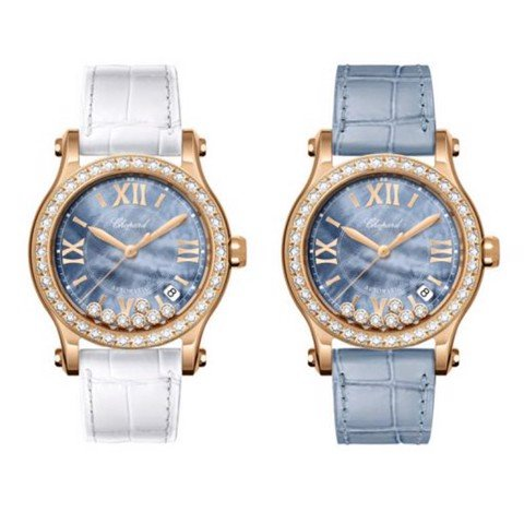 Chopard Happy Sport Automatic Diamond Rose Gold Bracelet Blue MOP Dial 36mm