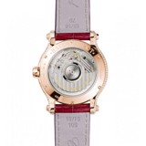 Chopard Happy Sport Automatic Rubies Rose gold Red Leather Strap 36mm