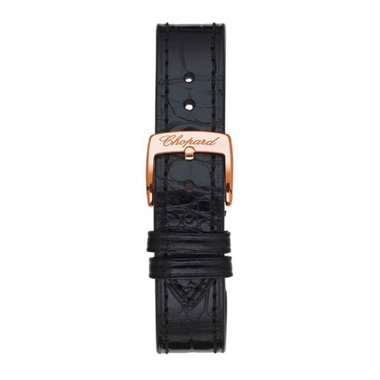 Chopard Happy Sport Automatic Diamond Rose gold Leather Strap 30mm