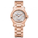Chopard Happy Sport Automatic Rose Gold Bracelet 30mm