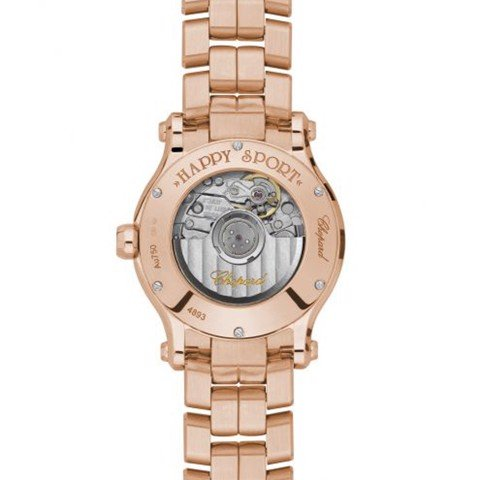 Chopard Happy Sport Automatic Diamond Rose gold Bracelet 30mm