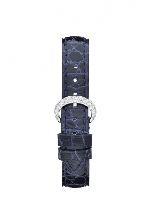Chopard Happy Sport Oval Automatic Diamond White Gold BLue Leather 31mm