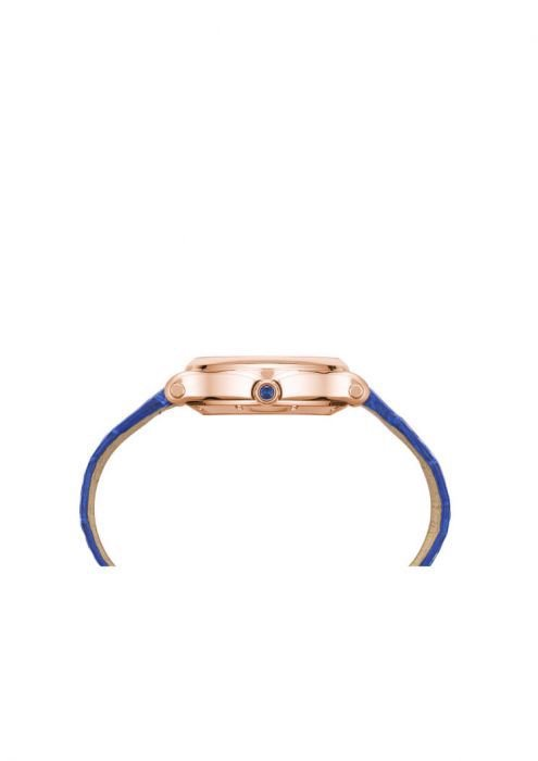 Chopard Happy Sport Oval Automatic Rose Gold Blue Leather 31mm